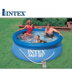 PISCINA INTEX EASY SET D. 244 x H 76 CM CON POMPA FIL. CART. LT/H 1.250