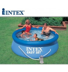PISCINA INTEX EASY SET D. 305 x H 76 CM CON POMPA FIL. CART. LT/H 1.250