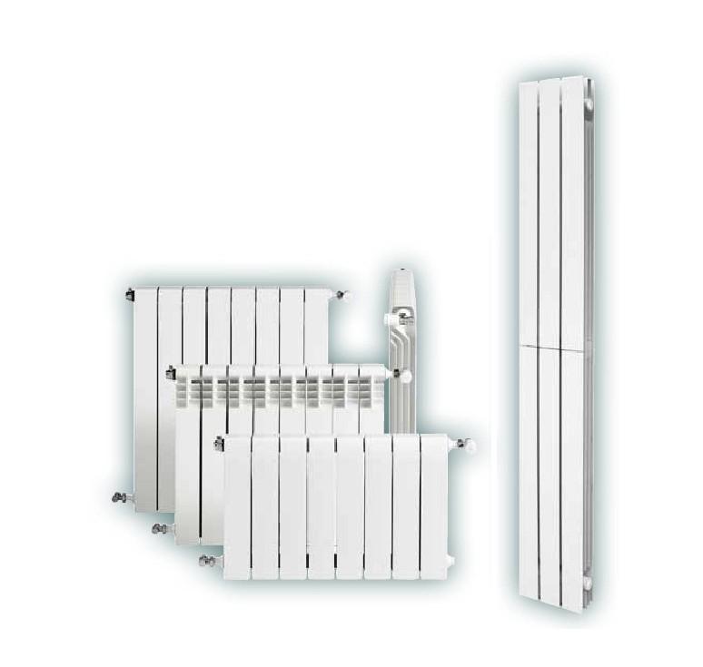 Elemento radiatore alluminio bianco roca dubal for Radiatori in alluminio