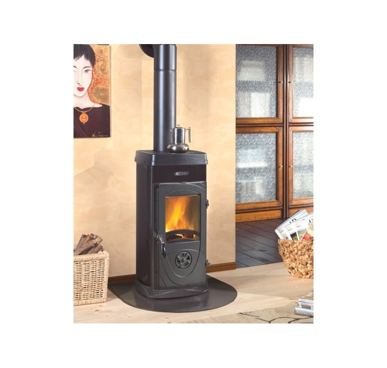 Stufa a legna bruciatutto nordica super junior 5 kw vol risc 143 mc - Stufe a legna nordica ...
