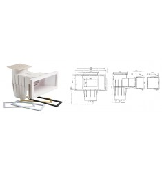 SKIMMER BOCCA GRANDE PREMIUM HAYWARD COFIES (LINER/PVC ARMATO)