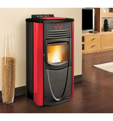 STUFA A PELLET NORDICA GRAZIOSA STEEL - 7 KW - VOL. RISC. 200 MC