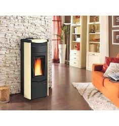 STUFA A PELLET NORDICA MELINDA IDRO STEEL - 14,1 KW - VOL. RISC. 404 MC