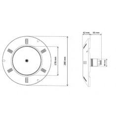 PROIETTORE PIATTO SEAMAID MULTICOLOR RGB PAR56 270LED 15,9W CON TELECOMANDO