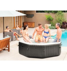 PURE SPA INTEX BUBBLE E JET MASSAGE SET OTTAGONALE 218X71 CM 6 POSTI