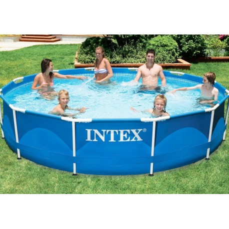 Piscina intex frame d 366 x h 76 cm senza pompa di for Offerte piscine intex