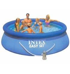 PISCINA INTEX EASY SET D. 396 x H 84 CM CON POMPA FIL. CART. LT/H 2.006