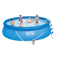 PISCINA INTEX EASY SET D. 457 x H 107 CM CON POMPA FIL. CART. LT/H 3.785, SCALETTA, TELO BASE, COPERTURA