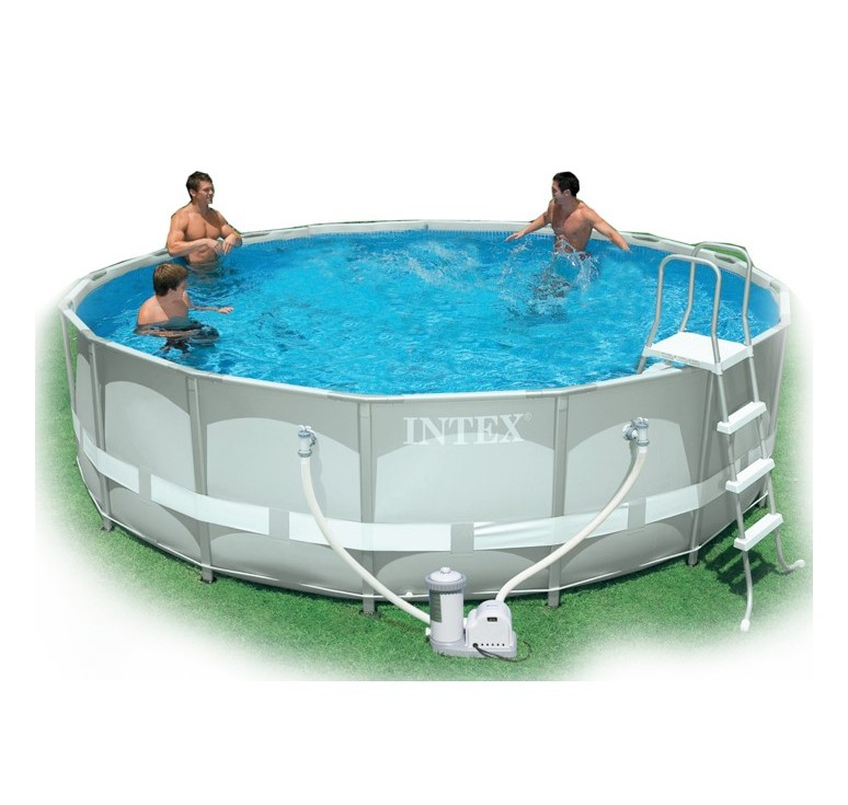 Piscina intex ultra frame d 427 x h 107 cm con pompa fil for Offerte piscine intex