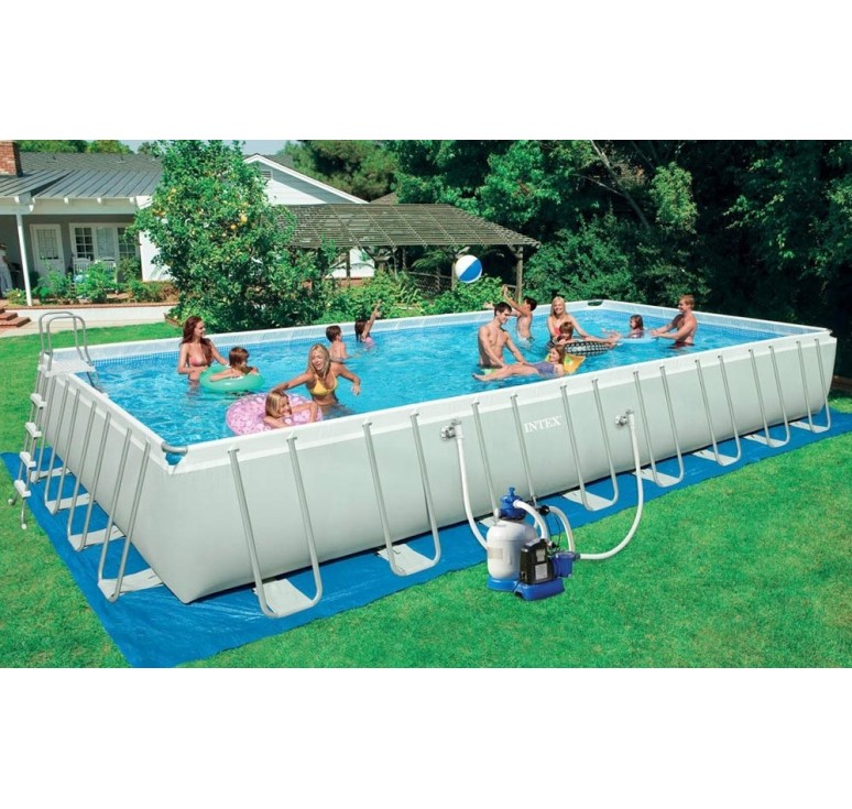 Piscina intex ultra frame rett cm 975 x 488 x h 132 con for Offerte piscine intex