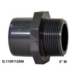 """ADATTATORE PVC D. 110 F x 125 M x 3"""" M"""