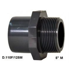 """ADATTATORE PVC D. 110 F x 125 M x 5"""" M"""