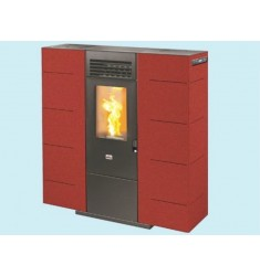 STUFA A PELLET QUEEN SLIM 6 - 6,14 KW - VOL. RISC. 160 MC