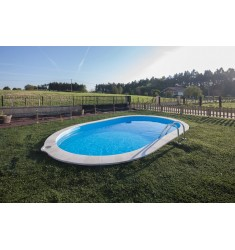 KIT PISCINE INTERRATE IN ACCIAIO H 120 CM GRE SERIE SUMATRA