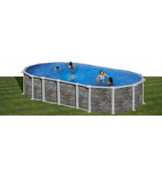 KIT PISCINE GRE DREAM POOL SERIE SANTORINI H 132 CM - SISTEMA OMEGA