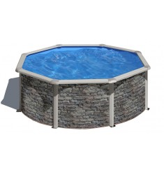 KIT PISCINE GRE DREAM POOL SERIE CERDEÑA H 120 CM