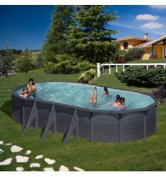 KIT PISCINE GRE DREAM POOL SERIE KEA H 120 CM